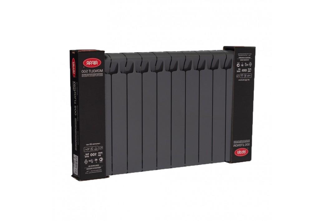 Радиатор Rifar Monolit 500 Антрацит (12секций)